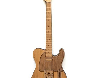 Telecaster Style Guitar Wood Magnet