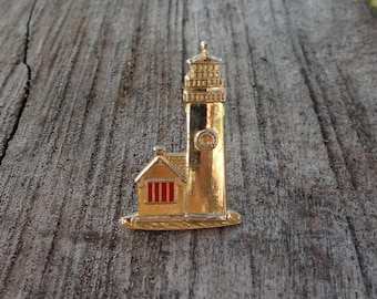 Gold tone Lighthouse Pin