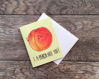 Appreciation Peach Greeting Card