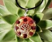 Orgone Pendant - Garnet - Amulet and Talisman - Root Chakra Balance - Healing Crystal Pendant - Medium