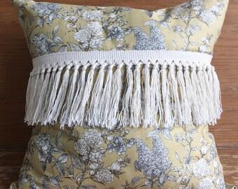Housse de coussin fleurs automnales - Ochre flowers cushion cover