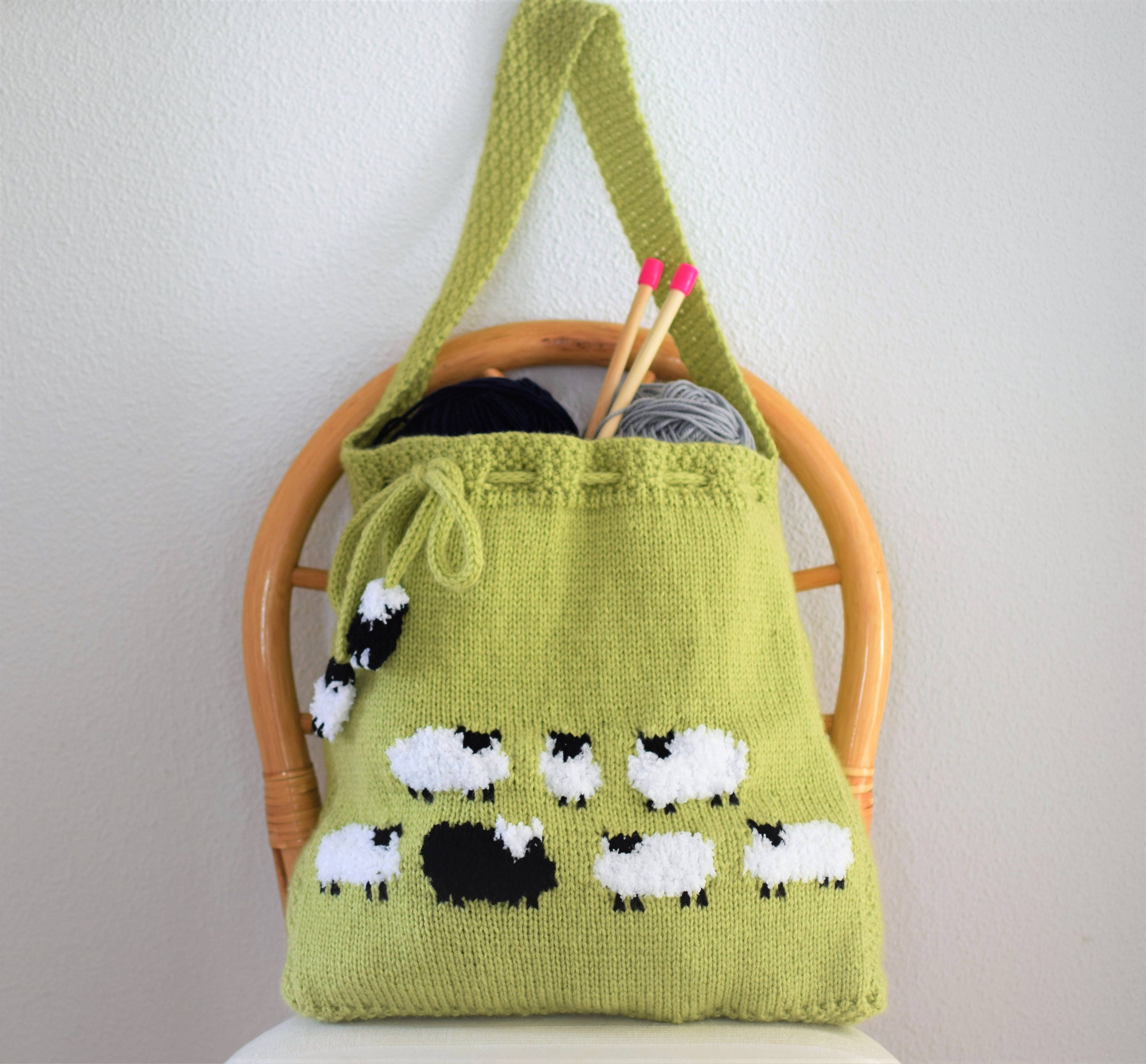 Bag knitting pattern knitting bag pattern handmade tote bag bag knitting pattern knitting bag pattern handmade tote bag sheep shoulder bag sheep handbag knitted sheep bag pdf download bankloansurffo Gallery