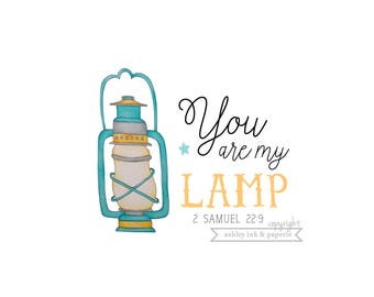 Notecard or Print ~ You are my lamp