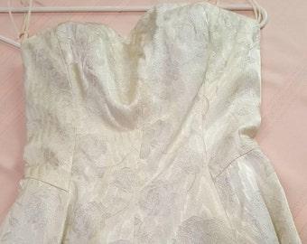 Vintage Boston Designer Rita Thornton Prom Gown 1960s  C602J