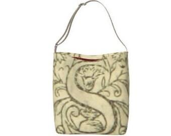 Monogram Tote Bag/Printed Tote Bag/Teachers Bag/Vintage Style Monogram Letter S/Groceries Tote Bag/Library Tote/Dance Bag/Made to Order