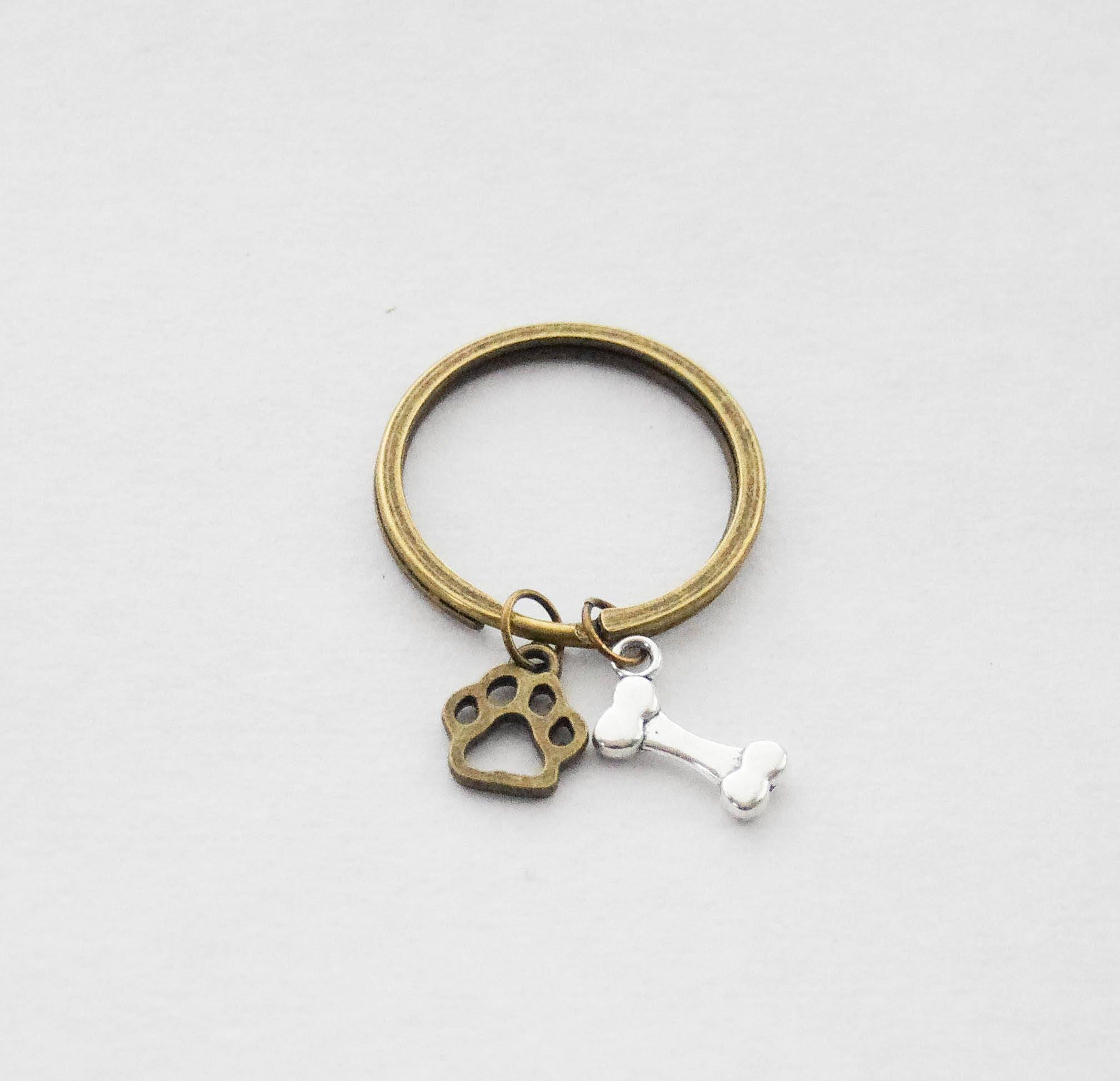 Keychains Lightupcircuitboardkeychain Paw Print Keychain Dog Lover Bone Pawprint Pet