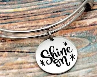 Shine on Customizable Expandable Bangle Charm Bracelet, choose your charms, create your style, design your bracelet, graduation, sweet 16