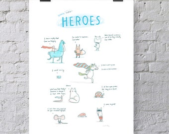 Some Super Heroes Print