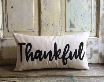 Pillow cover   Thankful pillow   Fall pillow   Fall Decor   Thanksgiving pillow   Thanksgiving decor   Entryway pillow   Hostess Gift