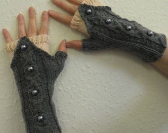 Maleficent fingerless mitts