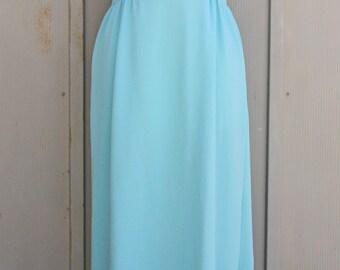 Baby Blue Maxi Dress - 60s Dress - Vintage Mod Dress - Jackie Kennedy Dress - 1960s Dress - Jackie O Dress - Sleeveless Dress - Formal Dress