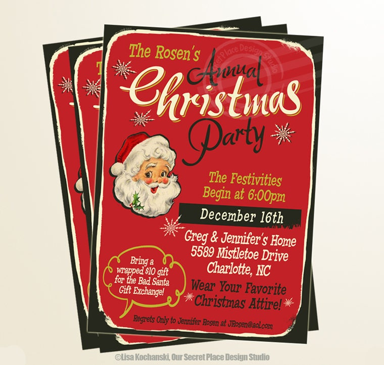 Annual Christmas Party Invite Christmas Invites Christmas Party ...
