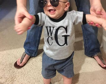 Baby Clothes, Personalized Onesie - Personalized Boys Clothes - Designer Baby Clothes -Trendy Baby Clothes -Cute Baby Boy Clothes