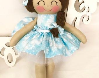 Snowflake Doll- Fabric Doll- Girl gift