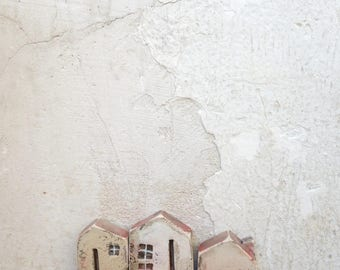 miniature ceramic houses,clay houses,sculpture,handmade ceramics,Christmas gift,housewarming,home decor,unique gift,gift ideas,one of a kind