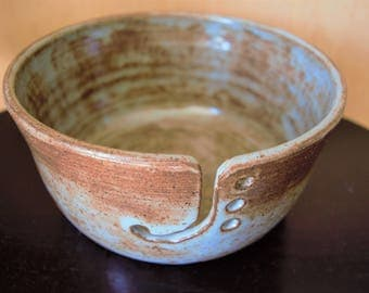 Light blue shino yarn bowl