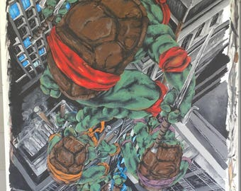 Ninja turtles painting prints