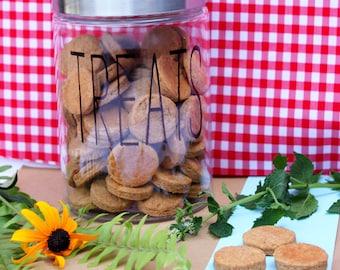 Custom dog treat jar- medium