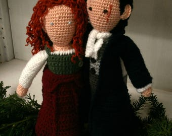 Ross and Demelza Poldark / Eleanor Tomlinson and Aidan Turner from the TV-show Poldark