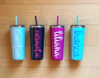 Personalized 22oz Thermal Tumbler {4 colors}