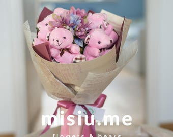 Pink Dream Teddy Bear bouquet