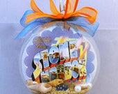 Stone Harbor NJ New Jersey Shore Vintage Postcard Christmas Ornament - So Cute!