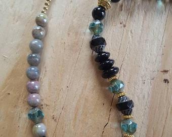 Sparkling Black Czech Glass Necklace