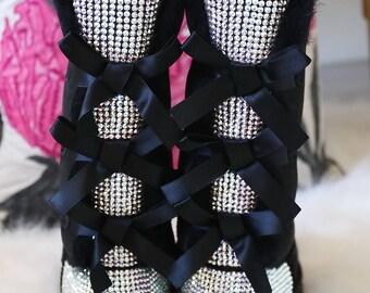 Womens UGG boots, Bailey Bow Boots, UGG Boots, Swarovski Crystal Rhinestones, Swarovski Ugg Boots, Bailey Bow ugg boots, womens winter boots