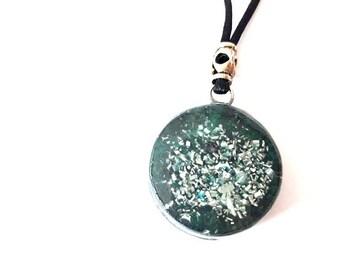 Orgone Pendant Magnetite Pendant Orgone Green Orgone Jewelry Magnetite Crystal Healing Orgone Spiritual Protection Balance and Meditation