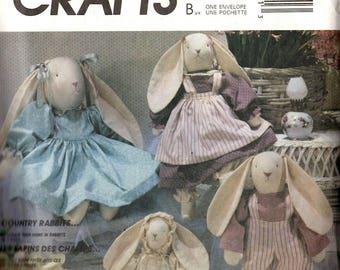 McCall's 3760 Faye Wine Country Rabbits Stuffed Animals Sewing Pattern