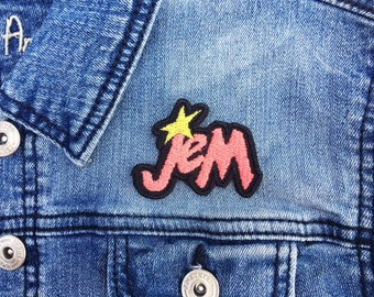 80s Jem and the Holograms Logo Iron-on Embroidered patch