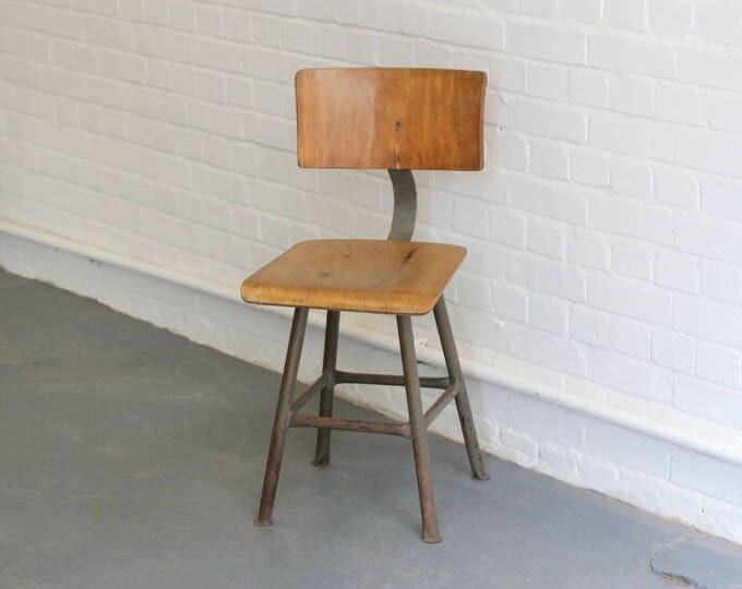 German Industrial Factory Chair Circa 1950s