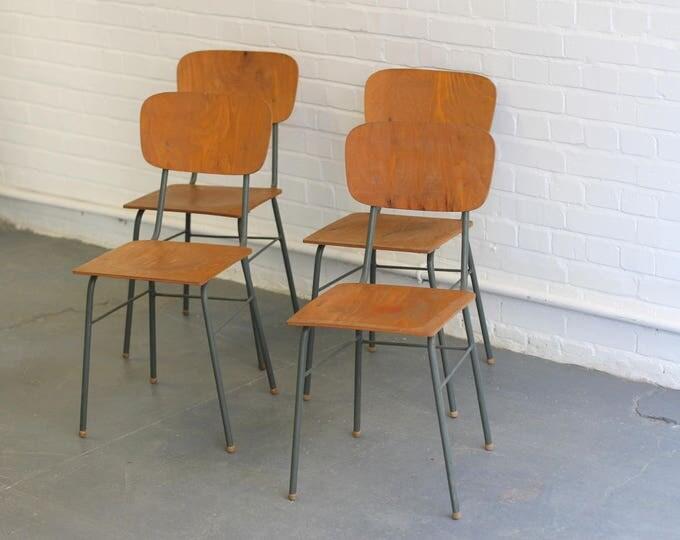 Mid Century Czech Utility Chairs Circa 1960s