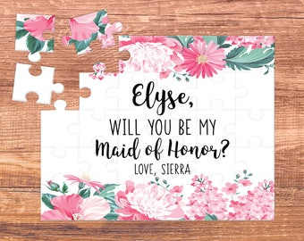 maid of honor / will you be my / bridesmaid proposal /  bridesmaid / puzzle / bridesmaid puzzle / maid of honor gift / be my bridesmaid /MOH
