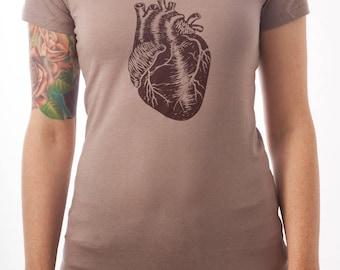 Anatomical Heart Screen-Printed Science Nerd T-Shirt - Men's, Women's & Kids'