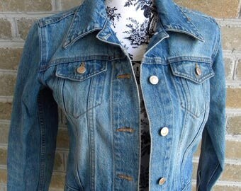 Vintage 90's London Jean Denim Jacket / Vintage Jean Jacket / Made in USA / Jean Jacket / Women's XS