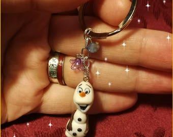 Olaf key ring in polymer paste