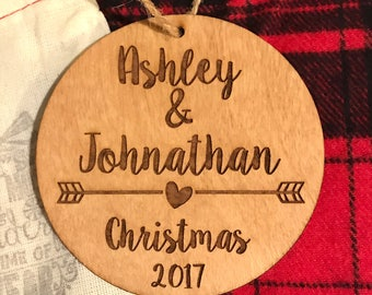 Personalized Couple's Christmas Ornament - Couple Ornament, Anniversary Gift, Personalized Gift, Christmas Ornament, Gifts for Her, Together