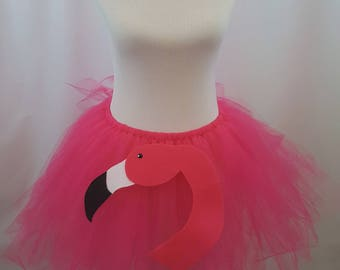 Flamingo Tutu Bustle, Flamingo Bustle, Flamingo Tutu, Flamingo Costume, Halloween Costume, Adult Tutu, Feather Bustle, Feather Tutu, Cosplay