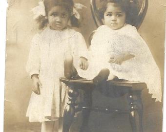 Vintage RPPC - Black Americana - The Sweetest Sisters
