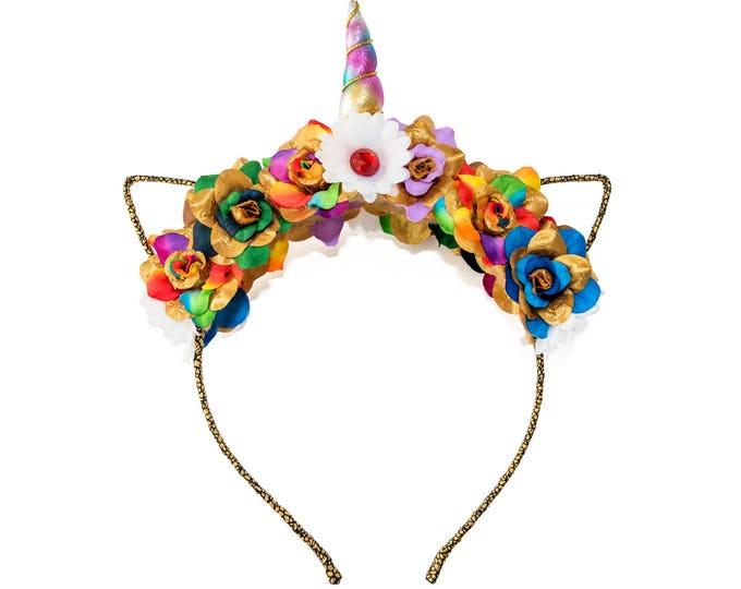 Rainbow Mewnicorn Cat Ear Headband