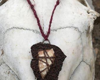 Wood And Bone Pendant