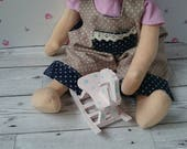 sewing pattern for 18 inch waldorf doll, dungaree and top set, sew your own dolls clothes, fit teddy,any 18inch doll