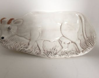 White cow bull spoon rest made in Italy