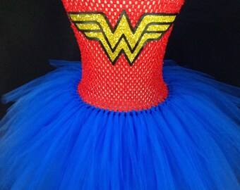 Wonder Woman Inspired Tutu Dress, Wonder Woman Tutu Dress, Superhero tutu, Superhero Tutu Dress, Girls Super Hero Costume ,Halloween Costume