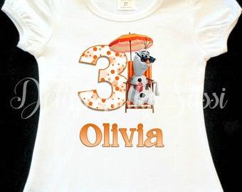 Olaf Summer Birthday Shirt, Birthday Shirt, Personalized Shirt, Personalized Birthday Shirt, Olaf, Summer Birthday Shirt, Girls Shirt