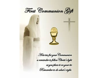 First Communion Chalice Tie Pin  (FCTP-Gold)