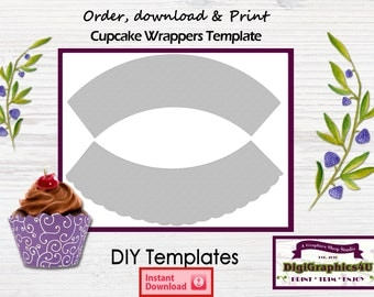 Printable template etsy for Giant cupcake liner template