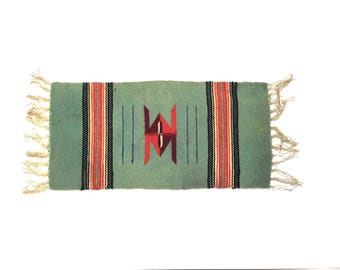 Vintage Small Navajo Weave Vintage Weave Throw Small Vintage Navajo Style Weave Small Wool Navajo Throw