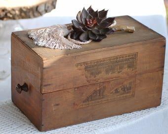 Ancienne boîte à parfum en bois Frenchvintagecharm, Brocante française